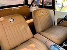 Tan Pleated seat set Buff or Rawhide