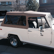 Tan Top with Tinted Windows  top full soft   jeepster commando jeep commando