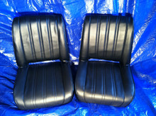Black vertical Seat Set front and back.