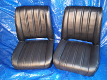 Black Vertical Pleated Single Rear Seat.