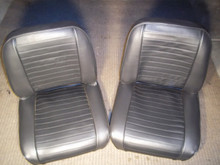 Black Horizontal Flat Pleated Rear Seat. CJ as Well
