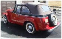 TOP STAYFAST FULL VUE WILLYS VJ JEEPSTER CONVERTIBLE