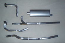 1966-71 Jeepster/Commando/C101 V6 225 Stainless Single Exhaust