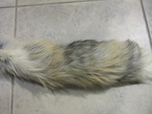 Natural Golden Island fox tail