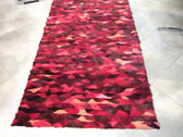 Multi-Red Oval Pattern Fur Rug