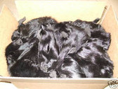 Lot of 50 Dyed Black  Fox Fur  faces.