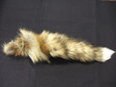 AMERICAN RED FOX TAIL WITH WHITE TIP.