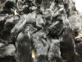 Lot of 50 dyed black fox tails size 6''-9''