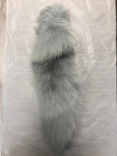 Dyed Powder Blue Platinum Fox Tail