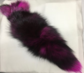 Dyed Magnolia Pink  Silver Fox Tail