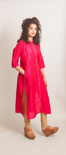 Pink long kurti (tunic)