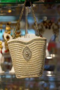 Cream pearl purse
