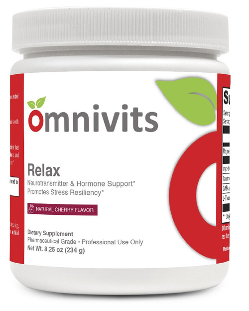 Relax Natural Cherry Flavor Neurotransmitter & Hormone Support*, Promotes Stress Resiliency*