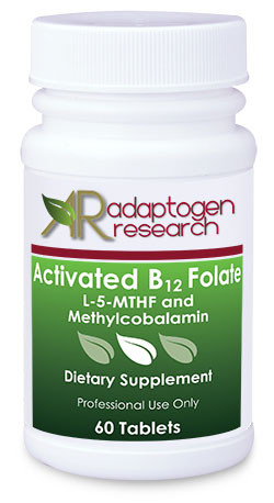 Activated B12 Folate Adaptogen Research Folic Acid