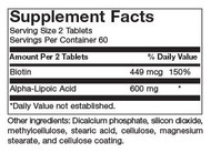 ALA 2/Day Supplement Facts