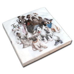 Dressed Dogs Luncheon Napkin