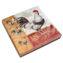 Rooster Family Luncheon Napkin