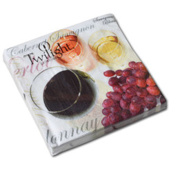 Wine Tasting Luncheon Napkin - P1196