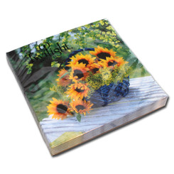 Basket of Sunflowers Luncheon Napkin
