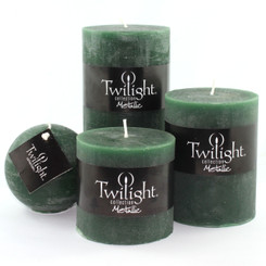 "3"" Rustic Pillars - Forest Green"