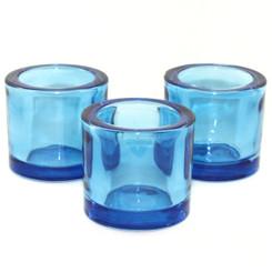 Heavy Glass Holder - True Blue