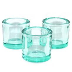 Heavy Glass Holder - Aquamarine