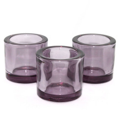 Heavy Glass Holder - Purple