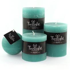 """3"""" Rustic Pillars - Turquoise"""
