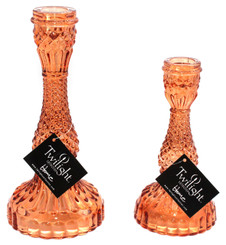Bella Candle Holder - Orange