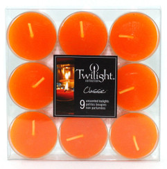 Orange Tealights | 9-pack
