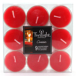 Red Tealights | 9-pack