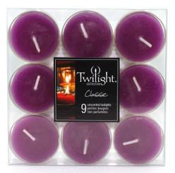 Aubergine Tealights | 9-pack