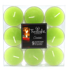Lime Tealights | 9-pack