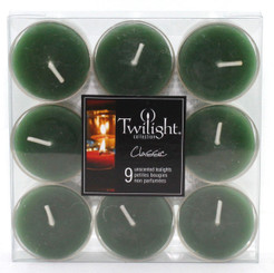 Green Tealights | 9-pack