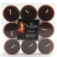 Dark Brown Tealights | 9-pack