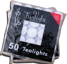 Unscented Standard Tealights - 50 bag
