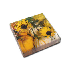 Sunflowers & Pumpkins Cocktail Napkin
