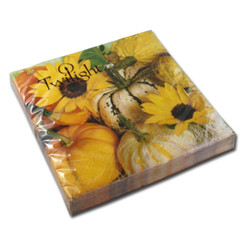 Sunflowers & Pumpkins Luncheon Napkin