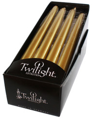 Gold Metallic Taper | 12 Pack