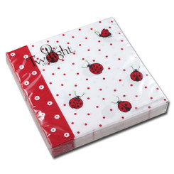Ladybugs & Dots Lucnheon Napkin