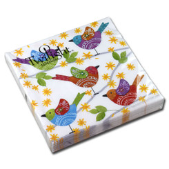 Colourful Birds Luncheon Napkin