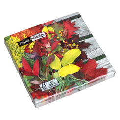 Colourful leaves Luncheon Napkin