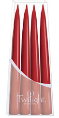 Dark Red Danish Taper - 4-pack