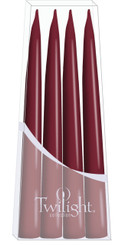 Light Burgundy Danish Taper - 4-pack