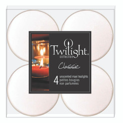 Maxi White Tealights | 4-pack