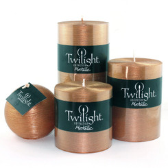 "3"" Silky Metallic Pillars - Copper"