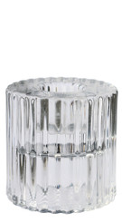 Rillo Small Candle Holder - Clear