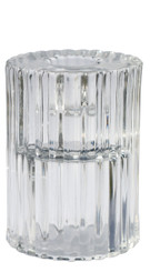 Rillo Large Candle Holder - Clear