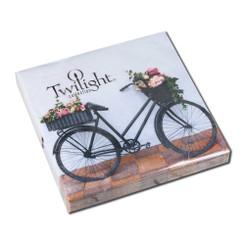 Flower Bike Luncheon Napkin