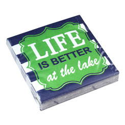 Life Is Better At The Lake Cocktail Napkins